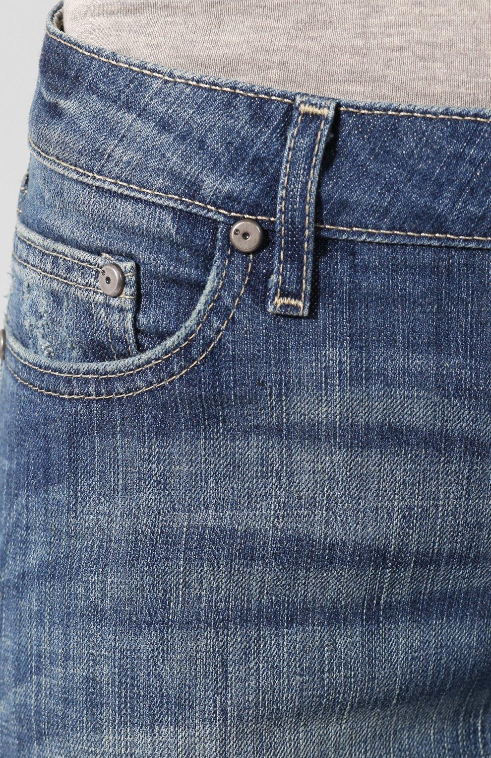 Женские джинсы с отворотами black label HARLEY-DAVIDSON голубого цвета, арт. 96188-15VW | Фото 5