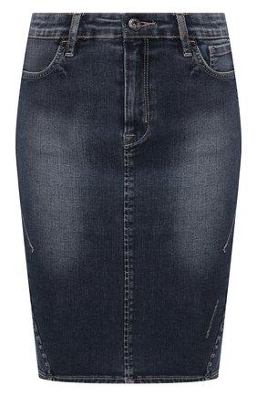 Женская джинсовая юбка black label HARLEY-DAVIDSON синего цвета, арт. 96367-16VW | Фото 1