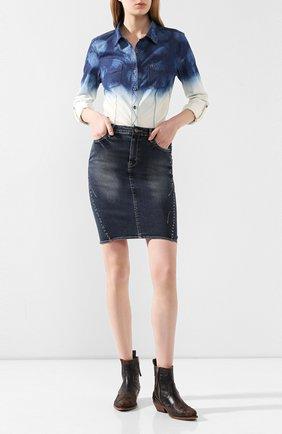 Женская джинсовая юбка black label HARLEY-DAVIDSON синего цвета, арт. 96367-16VW | Фото 2