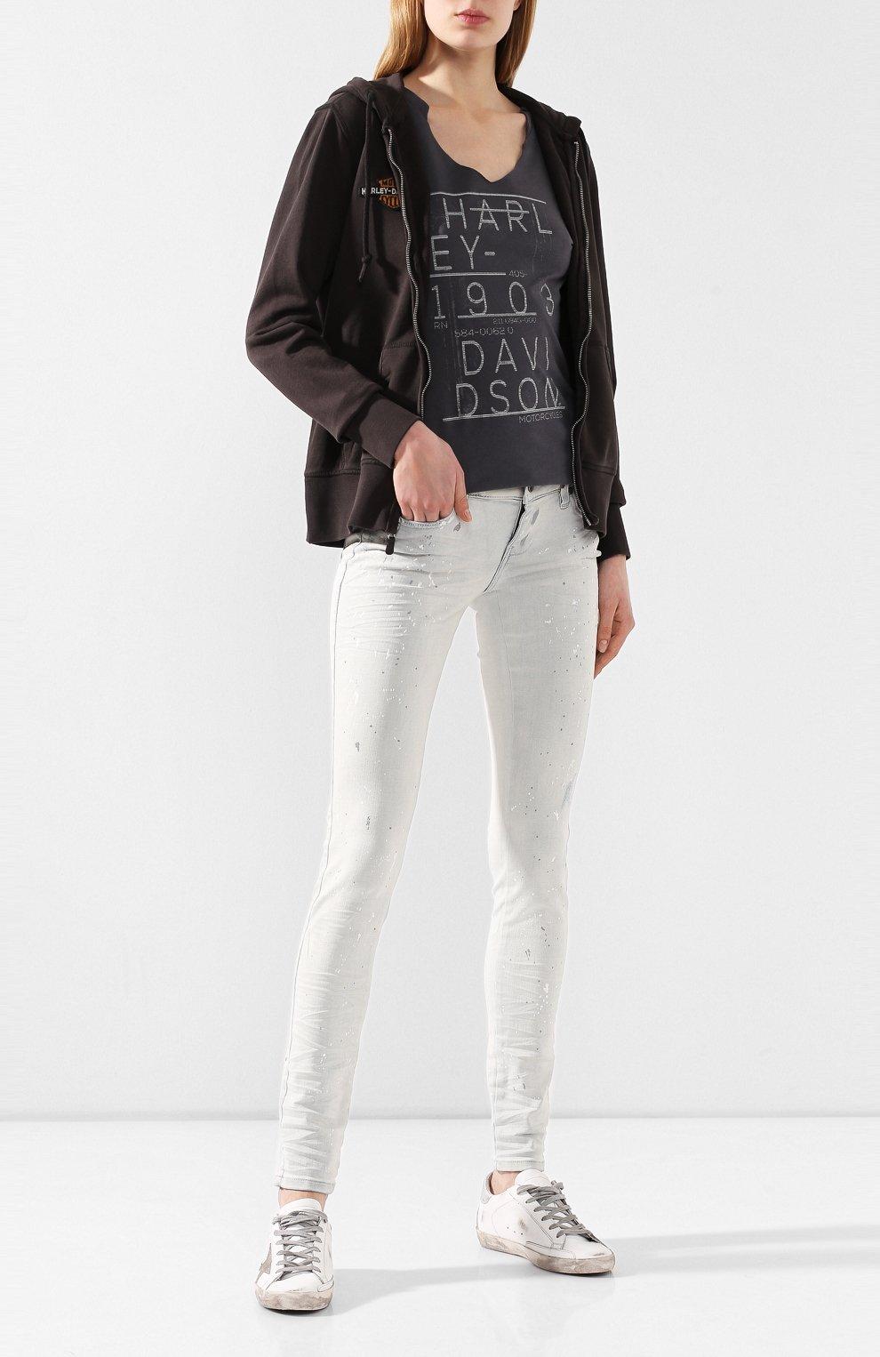 Женские джинсы black label HARLEY-DAVIDSON белого цвета, арт. 96375-16VW | Фото 2