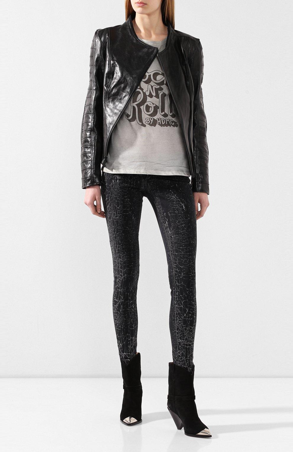 Женские джинсы black label HARLEY-DAVIDSON черного цвета, арт. 96373-16VW   Фото 2
