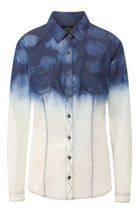 Женская хлопковая рубашка black label HARLEY-DAVIDSON голубого цвета, арт. 96393-16VW | Фото 1