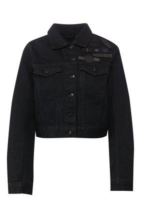 Женская джинсовая куртка black label HARLEY-DAVIDSON черного цвета, арт. 97414-17VW | Фото 1