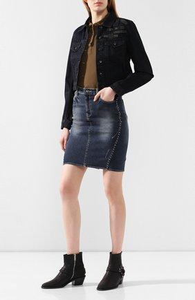 Женская джинсовая куртка black label HARLEY-DAVIDSON черного цвета, арт. 97414-17VW | Фото 2