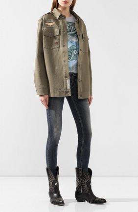 Женская футболка garage HARLEY-DAVIDSON серого цвета, арт. 96060-18VW   Фото 2
