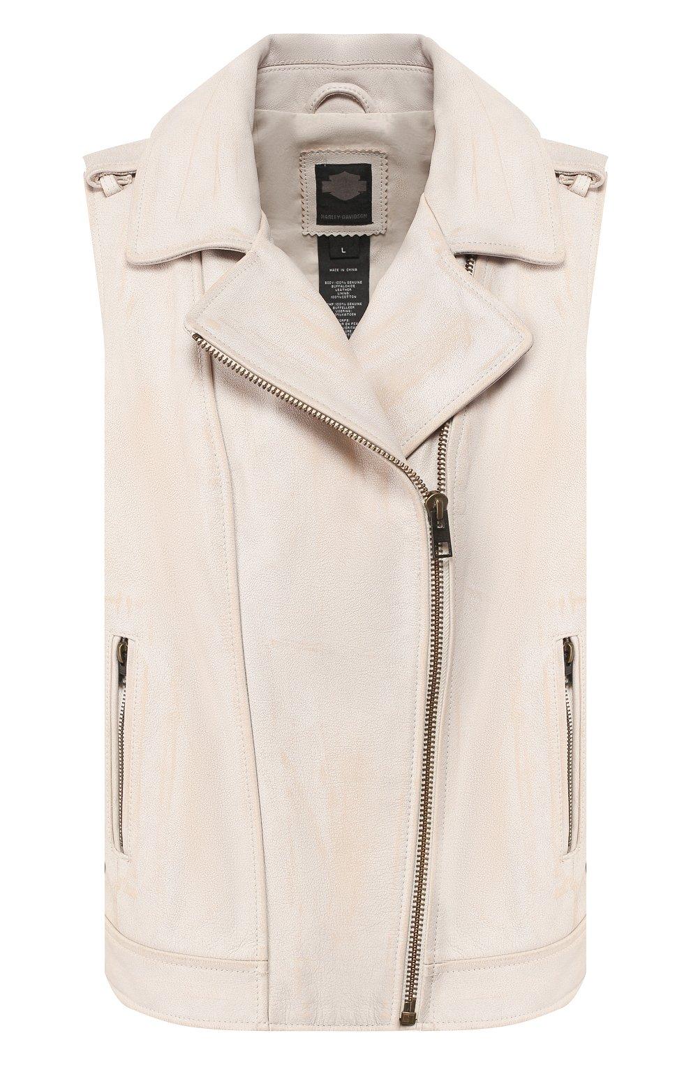 Женский кожаный жилет 1903 HARLEY-DAVIDSON кремвого цвета, арт. 96197-17VW | Фото 1