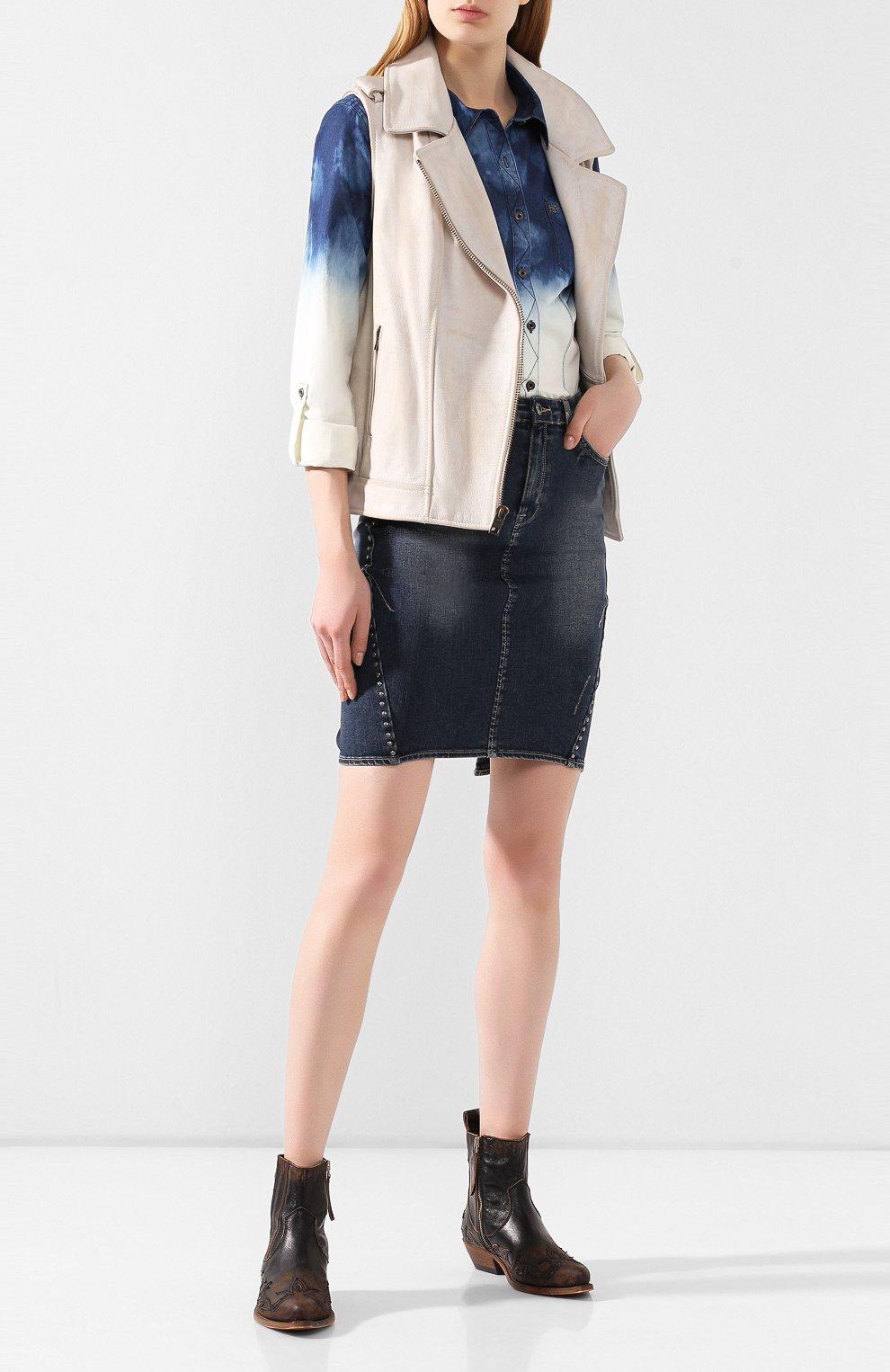 Женский кожаный жилет 1903 HARLEY-DAVIDSON кремвого цвета, арт. 96197-17VW | Фото 2