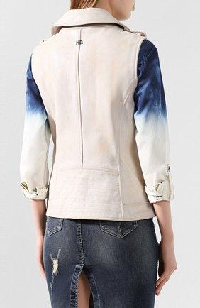 Женский кожаный жилет 1903 HARLEY-DAVIDSON кремвого цвета, арт. 96197-17VW | Фото 4