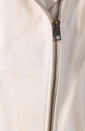 Женский кожаный жилет 1903 HARLEY-DAVIDSON кремвого цвета, арт. 96197-17VW | Фото 5