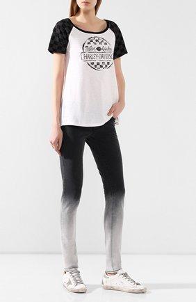 Женская хлопковая футболка genuine motorclothes HARLEY-DAVIDSON белого цвета, арт. 96144-18VW | Фото 2