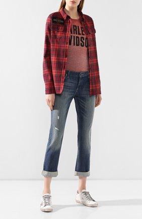 Женская хлопковая футболка 1903 HARLEY-DAVIDSON красного цвета, арт. 99051-18VW   Фото 2