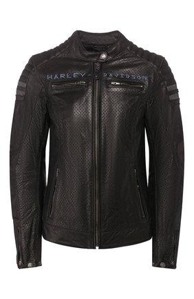 Женская кожаная куртка genuine motorclothes HARLEY-DAVIDSON черного цвета, арт. 97037-19EW | Фото 1
