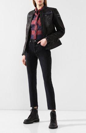 Женская кожаная куртка genuine motorclothes HARLEY-DAVIDSON черного цвета, арт. 97037-19EW | Фото 2