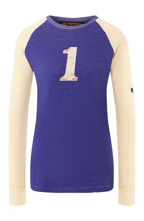 Женский хлопковый пуловер 1903 HARLEY-DAVIDSON синего цвета, арт. 96867-19VW | Фото 1