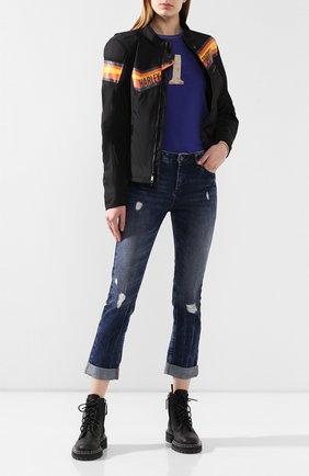 Женский хлопковый пуловер 1903 HARLEY-DAVIDSON синего цвета, арт. 96867-19VW | Фото 2