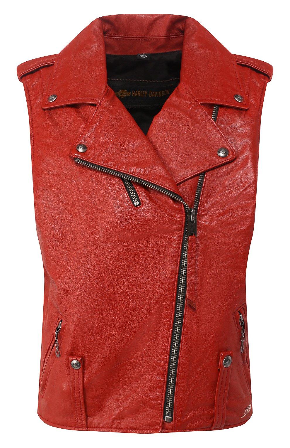 Женский кожаный жилет 1903 HARLEY-DAVIDSON красного цвета, арт. 97049-19VW | Фото 1