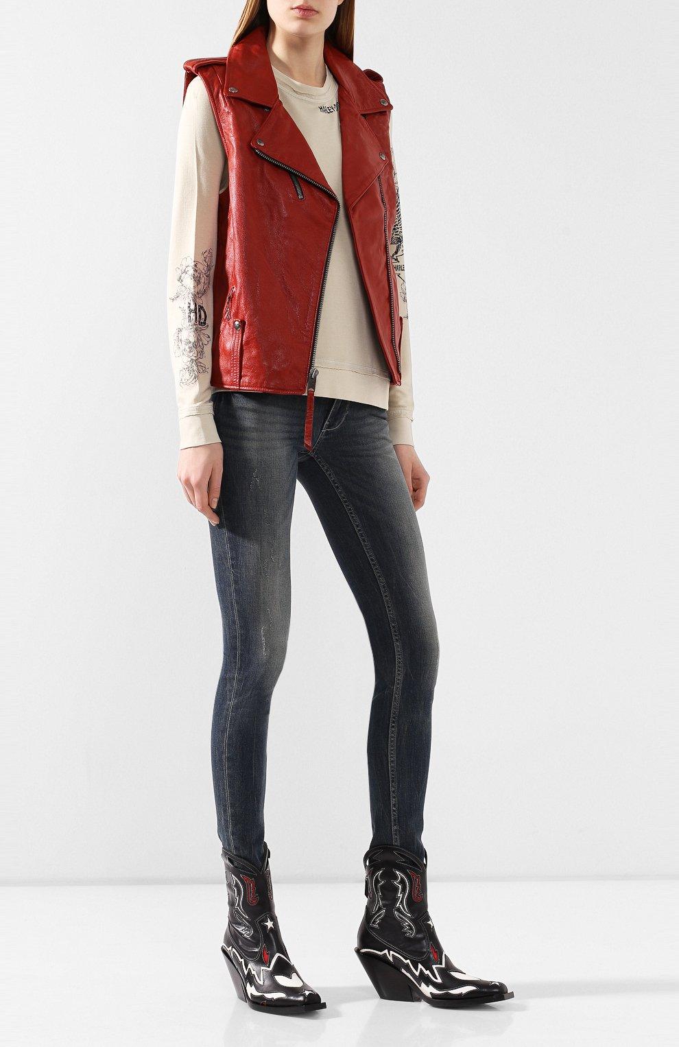 Женский кожаный жилет 1903 HARLEY-DAVIDSON красного цвета, арт. 97049-19VW | Фото 2