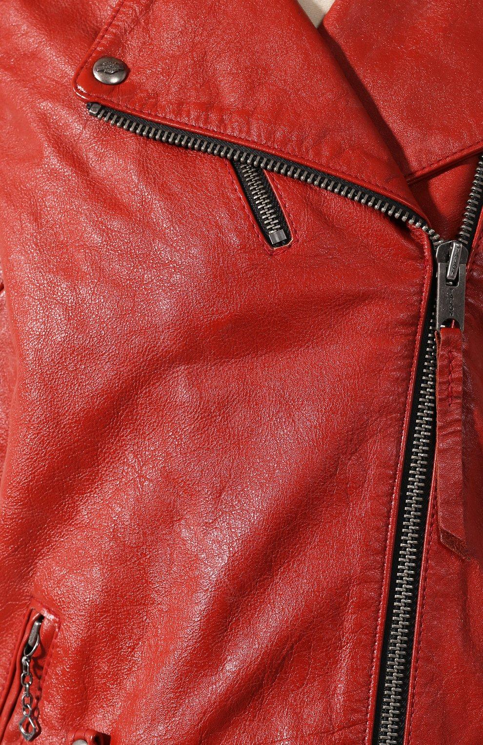 Женский кожаный жилет 1903 HARLEY-DAVIDSON красного цвета, арт. 97049-19VW | Фото 5