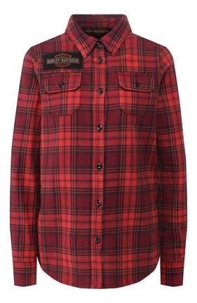 Женская хлопковая рубашка 1903 HARLEY-DAVIDSON красного цвета, арт. 99123-19VW   Фото 1
