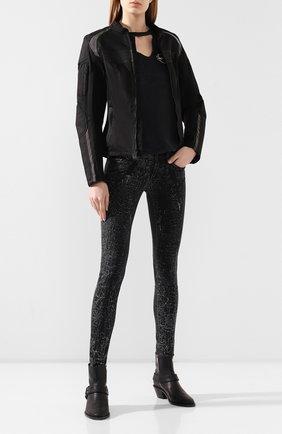 Женская куртка h-d moto HARLEY-DAVIDSON черного цвета, арт. 98335-19EW   Фото 2