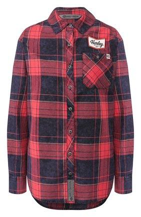 Женская хлопковая рубашка garage HARLEY-DAVIDSON бордового цвета, арт. 99219-19VW   Фото 1