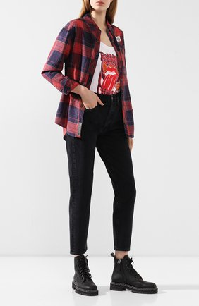 Женская хлопковая рубашка garage HARLEY-DAVIDSON бордового цвета, арт. 99219-19VW   Фото 2