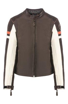 Женская кожаная куртка genuine motorclothes HARLEY-DAVIDSON коричневого цвета, арт. 98044-19EW | Фото 1