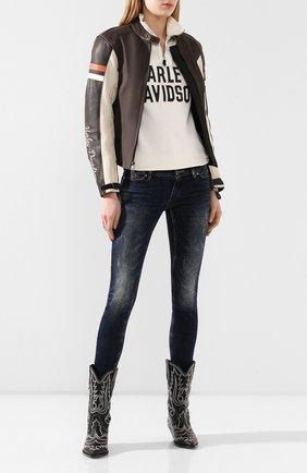 Женская кожаная куртка genuine motorclothes HARLEY-DAVIDSON коричневого цвета, арт. 98044-19EW | Фото 2