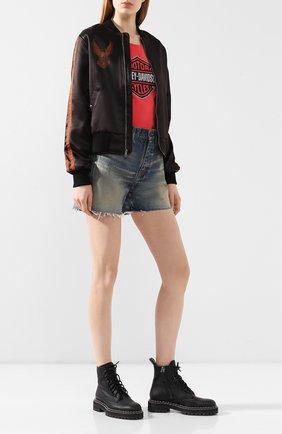 Женская хлопковая футболка exclusive for moscow HARLEY-DAVIDSON красного цвета, арт. 30297504   Фото 2