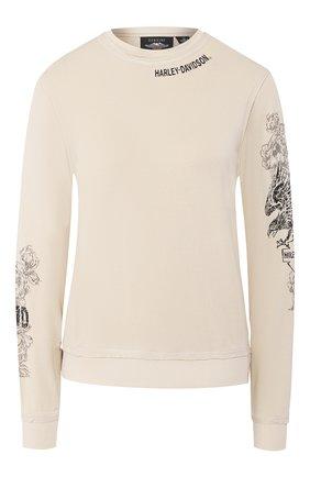 Женская пуловер из вискозы genuine motorclothes HARLEY-DAVIDSON кремвого цвета, арт. 96323-20VW   Фото 1