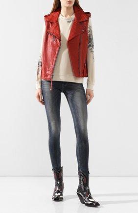 Женская пуловер из вискозы genuine motorclothes HARLEY-DAVIDSON кремвого цвета, арт. 96323-20VW   Фото 2