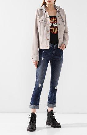 Женская джинсовая куртка 1903 HARLEY-DAVIDSON светло-розового цвета, арт. 97428-20VW   Фото 2