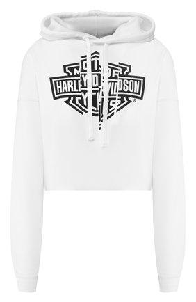 Женская худи genuine motorclothes HARLEY-DAVIDSON белого цвета, арт. 96494-20VW   Фото 1