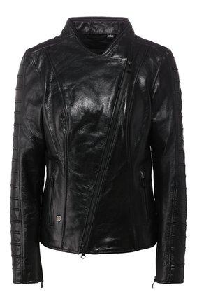 Женская кожаная куртка h-d moto HARLEY-DAVIDSON черного цвета, арт. 98008-20EW | Фото 1