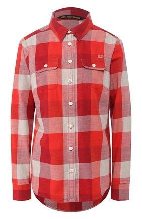 Женская хлопковая рубашка genuine motorclothes HARLEY-DAVIDSON красного цвета, арт. 99124-20VW   Фото 1
