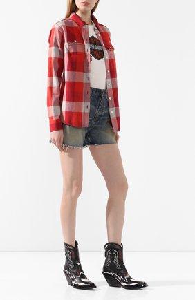 Женская хлопковая рубашка genuine motorclothes HARLEY-DAVIDSON красного цвета, арт. 99124-20VW   Фото 2