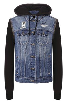 Женская джинсовая куртка garage  HARLEY-DAVIDSON синего цвета, арт. 98402-20VW | Фото 1