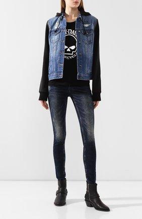 Женская джинсовая куртка garage  HARLEY-DAVIDSON синего цвета, арт. 98402-20VW | Фото 2