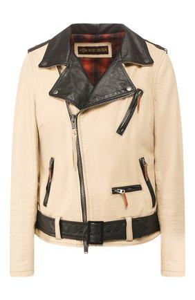 Женская кожаная куртка 1903 HARLEY-DAVIDSON бежевого цвета, арт. 97008-18VW | Фото 1