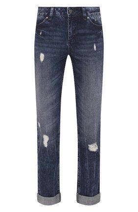 Женские джинсы с отворотами black label HARLEY-DAVIDSON синего цвета, арт. 96366-16VW | Фото 1