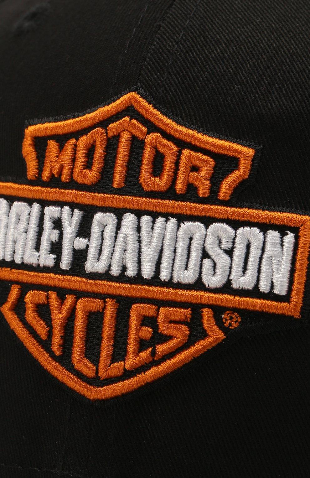 Мужской хлопковая бейсболка genuine motorclothes HARLEY-DAVIDSON черного цвета, арт. 99515-12VM   Фото 3