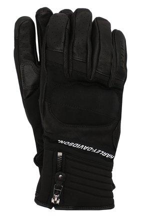 Мужские комбинированные перчатки fxrg HARLEY-DAVIDSON черного цвета, арт. 98273-19EM | Фото 1