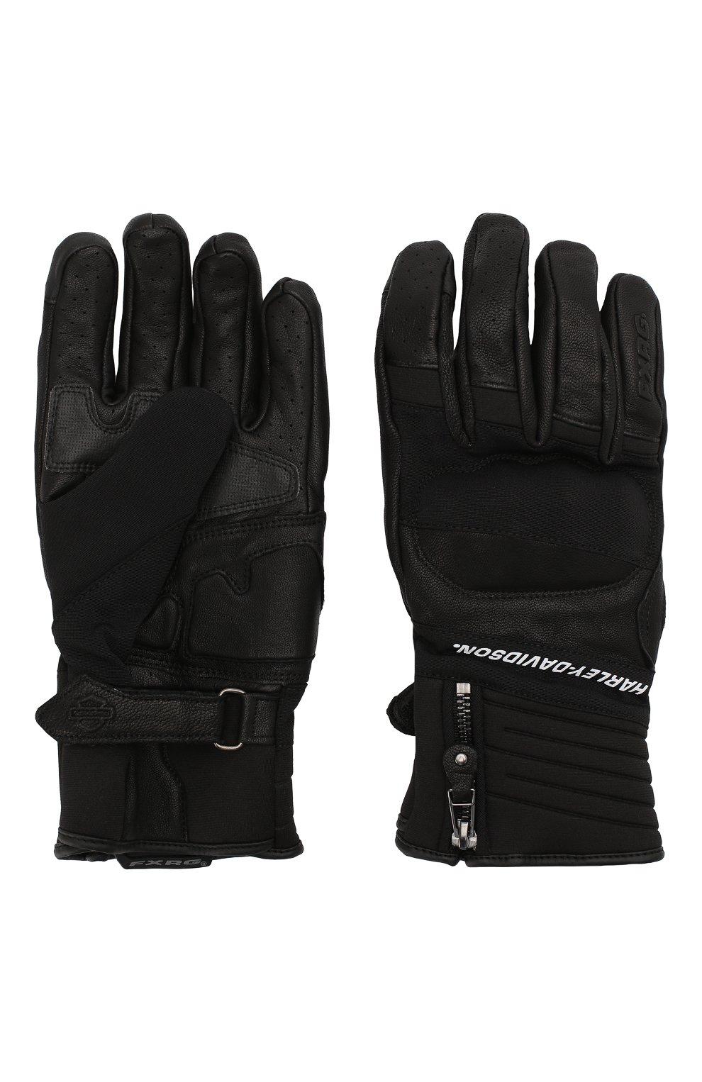 Мужские комбинированные перчатки fxrg HARLEY-DAVIDSON черного цвета, арт. 98273-19EM | Фото 2