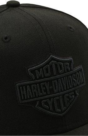 Мужской хлопковая бейсболка genuine motorclothes HARLEY-DAVIDSON черного цвета, арт. 99514-12VM   Фото 3 (Материал: Текстиль, Хлопок)