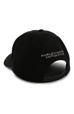 Мужской хлопковая бейсболка genuine motorclothes HARLEY-DAVIDSON черного цвета, арт. 99402-20VM   Фото 2
