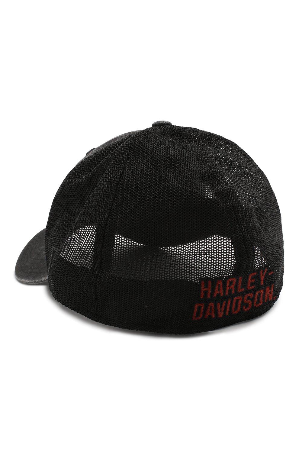 Мужской бейсболка genuine motorclothes HARLEY-DAVIDSON черного цвета, арт. 99407-20VM   Фото 2 (Материал: Текстиль, Синтетический материал, Хлопок)