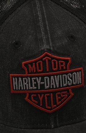 Мужской бейсболка genuine motorclothes HARLEY-DAVIDSON черного цвета, арт. 99407-20VM   Фото 3 (Материал: Текстиль, Синтетический материал, Хлопок)