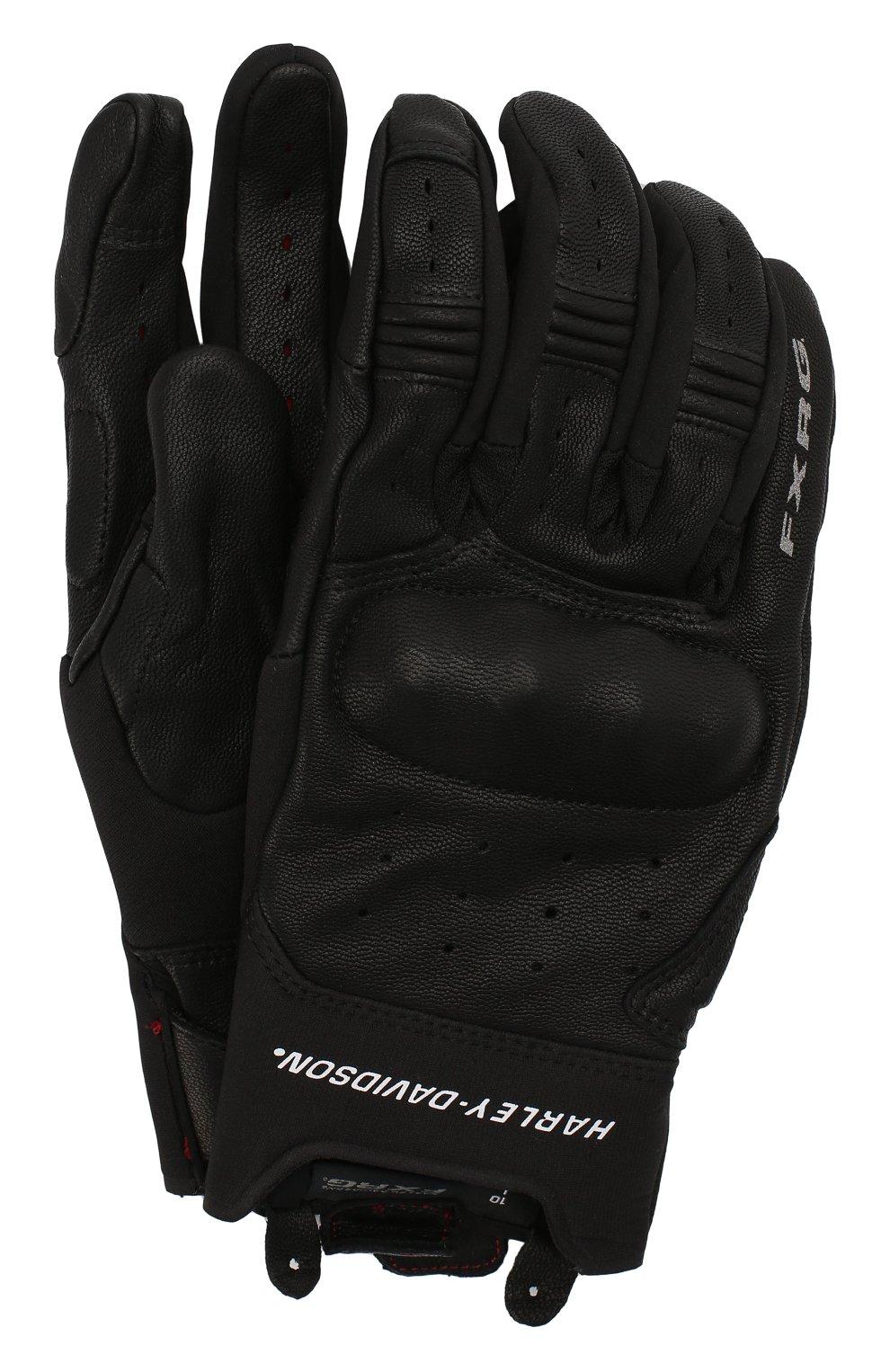 Мужские кожаные перчатки fxrg HARLEY-DAVIDSON черного цвета, арт. 98387-19EM | Фото 1 (Мужское Кросс-КТ: Кожа и замша)