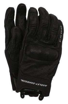 Мужские кожаные перчатки fxrg HARLEY-DAVIDSON черного цвета, арт. 98387-19EM | Фото 1
