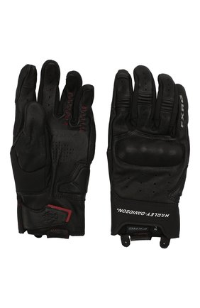 Мужские кожаные перчатки fxrg HARLEY-DAVIDSON черного цвета, арт. 98387-19EM | Фото 2